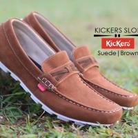Sepatu kickers slop casual santai gaya fashion kerja pria K-11