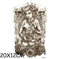 Jual AX-158 Temporary Tattoo Woman Pimp - Tato Pin Up - Temporer Tato Murah