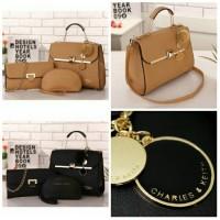 harga tas import Fashion Korea branded 3in1 cnk charles and keith fr batam Tokopedia.com