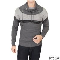 harga Men Harajuku Sweater Rajut Grey  SWE 697 Tokopedia.com