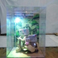 harga boneka kayu danbo  potrait in vespa Tokopedia.com