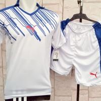 harga Setelan Kaos Puma Line Putih Kerah Futsal,gym,volly Olahraga Bola Tokopedia.com