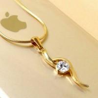harga Kalung Wanita Liontin Italian Necklace Gold / Titanium Stainless steel Tokopedia.com