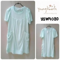 YOUNG HEARTS CASUAL/SLEEPWEAR SIZE FREE FIT TO L 409 GRN YSW