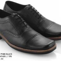 Sepatu Pantofel Pria Hitam Kulit Everflow Ef 7105