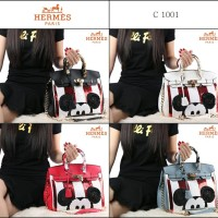 Hermes Birkin Mickey Togo Leather With Twilly C1001