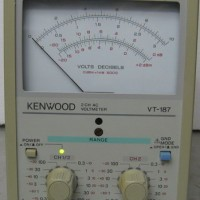 KENWOOD VT-187 2-Channel 0.3mV to 100V Voltmeter