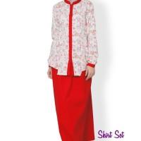 Skirt Set ALYSSA Red, Size S-XL, Clover Clothing, Murah Berkualitas