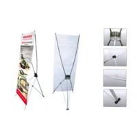 Kerangka Tiang Y-Banner / Spanduk Standing bahan Plastik Steinless