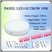harga Lampu Panel Led 18 Watt White Bulat Besi Outbow Tokopedia.com