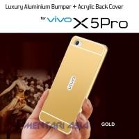 Bumper VIVO X5 PRO : Aluminium Metal + ACRYLIC Back Cover