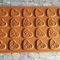 Cetakan Kue Puding Es Batu Coklat Love Macam Macam Bentuk Hati