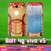 Garskin Ivo Bolt V5 Full Body Motif Iron Man motif bisa custom all hp