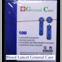 harga Box Isi 100 Blood Lancet General Care /alat Untuk Ambil Sampel Darah Tokopedia.com