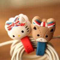 Penggulung Kabel Motif Hello Kitty Berpita Bendera Inggris (1 Set Isi