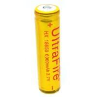 UltraFire Rechargeable Battery 18650 for LED Flashlight 3.7V 6000mAh