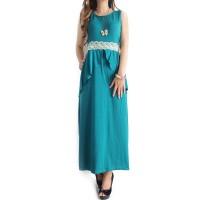 Ofashion AX Long Dress Hanifah Pakaian Muslimah Modern - 3037a-HIJAU