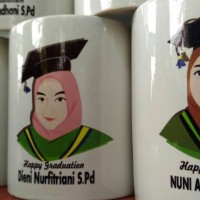 Mug Vector Custom -  Kado ulangtahun , wisuda, anniversary dll