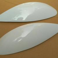 Eye Lid / Cover Headlamp / Mata Sipit untuk Honda Brio Putih