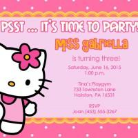 A6H   Undangan Ulang Tahun Tema Hello Kitty