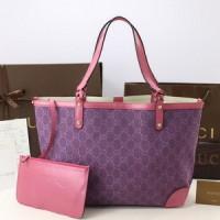 Tas Gucci Denim Craft Medium Tote Ungu-Pink PS247209