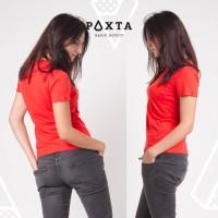 Kaos Wanita Paxta - Basic Crew Neck Women (Orange)