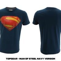 Jual KAOS SUPERHERO TOPGEAR MAN OF STEEL NAVY VER Murah