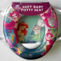 Jual Toilet Training Anak - Soft Baby Potty Seat Handle Karakter Ariel Murah