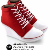 harga Sepatu Boots wedges canvas tali Wanita/ casual/ high top/ converse Tokopedia.com