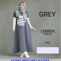 Harga lenkka dress grey spandek grosir gamis tanah | antitipu.com