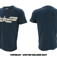 Jual T-SHIRT / KAOS SUPERHERO CAPTAIN AMERICA WINTER SOLDIER SUIT Murah