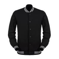 Jual [HARGA GROSIR] Jaket Baseball Varsity Polos - Black Murah