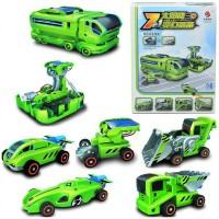 Mainan Edukasi 7 in 1 Solar Robot Cars Rechargeable DIY Rakit kadounik