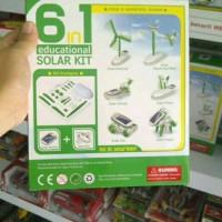 mainan edukasi robot tenaga surya 6 in 1 solar transforming robot kit