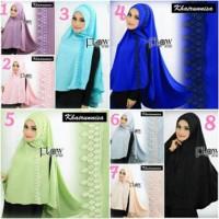 Jilbab Original Flow Exclusive Khimar Khairunnisa Instant Hijab Asli B