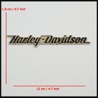Emblem Harley Davidson Straight Letter ( Tulisan ) Full Metal Chrome