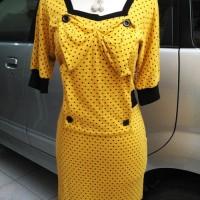 Dress Kuning simpel model korea