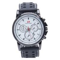 Jam Tangan Pria Swiss Army SAX 1014 - Rubber Hitam Dial Putih