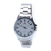 Jam Tangan Pria Swiss Army SAX 1087 - Stainless Silver Dial Putih