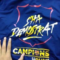 Kaos Bola Tshirt Barcelona La Liga Champion Winners Sha Demostrat 2016