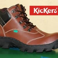 harga Sepatu Pria Boots Kickers Bast Quality Coklat Tua (Murah Model Bagus) Tokopedia.com