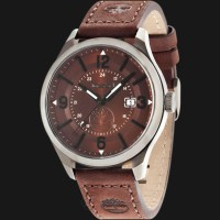 Timberland TBL.14645JSU/12 Brown Dial Brown Leather Strap