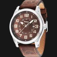Timberland TBL.14644JS/12 Brown Dial Brown Leather Strap