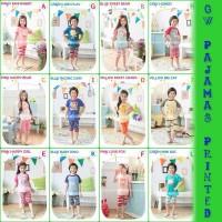 Jual Baju Tidur Anak Setelan (GW Pajamas) Printed Pendek Baru | Piya