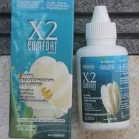 Pembersih Lensa Mata X2 Comfort Cairan Air Softlens Aman Alami