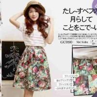 Jual Flower Pattern Skirt / Rok Bunga Murah