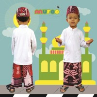 Srung Celana Peci Anak Samarinda Merah XXL ( 9-10th)