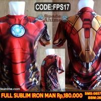 Jual kaos superheros marvel,iron man,mark 43,civil war (spade anime) Murah