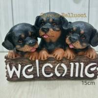 PAJANGAN ANJING WELCOME ROTT / ROTTWEILER