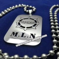 Kalung Nama Army TNI Stainless Monel